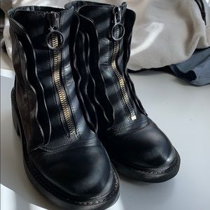 black ASH chunky leather boots